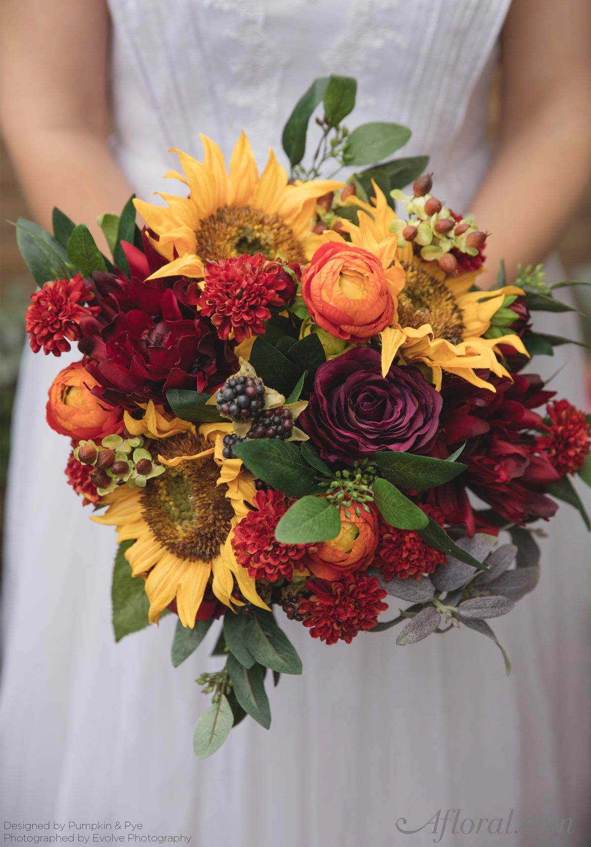 Fall Sunflower Bouquet | Silk flowers, Bridal bouquets and Flower
