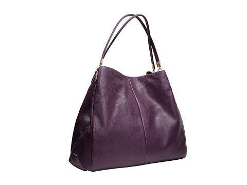 ... Coach Madison Phoebe Leather Shoulder Bag Light Black Violet, Handbags,  Black, Coach, ... 1367d17ac6