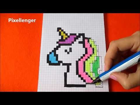 (1) Unicorn How to fraw Pixel Art - Единорог как ...