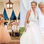 "Ellen DeGeneres + Portia de Rossi  Although rumors of divorce seem to always trouble Ellen and Portia, they still are the queen and queen of lesbian couples. They have been together since 2004 and tied the knot in 2008 – the equivalent of a 30-year marriage in celebrity years. They have both kept their successful careers going; Ellen is currently producing the sitcom ""One Big Happy."""