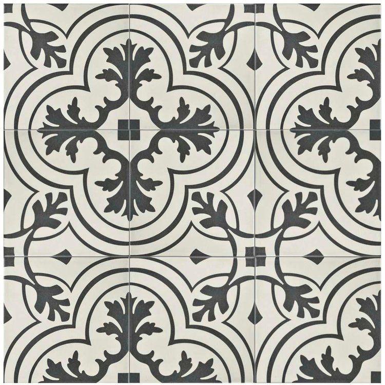 Merola Tile Take Home Sample Twenties Vintage Encaustic Ceramic Floor And Wall 7 3 4 In X Frc8twvt The Depot Unique Bathroom Tiles Samples