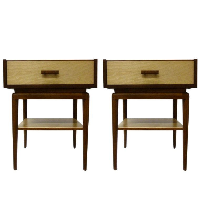 Best Mid Century Modern Two Tone Night Stands Pair From A 400 x 300