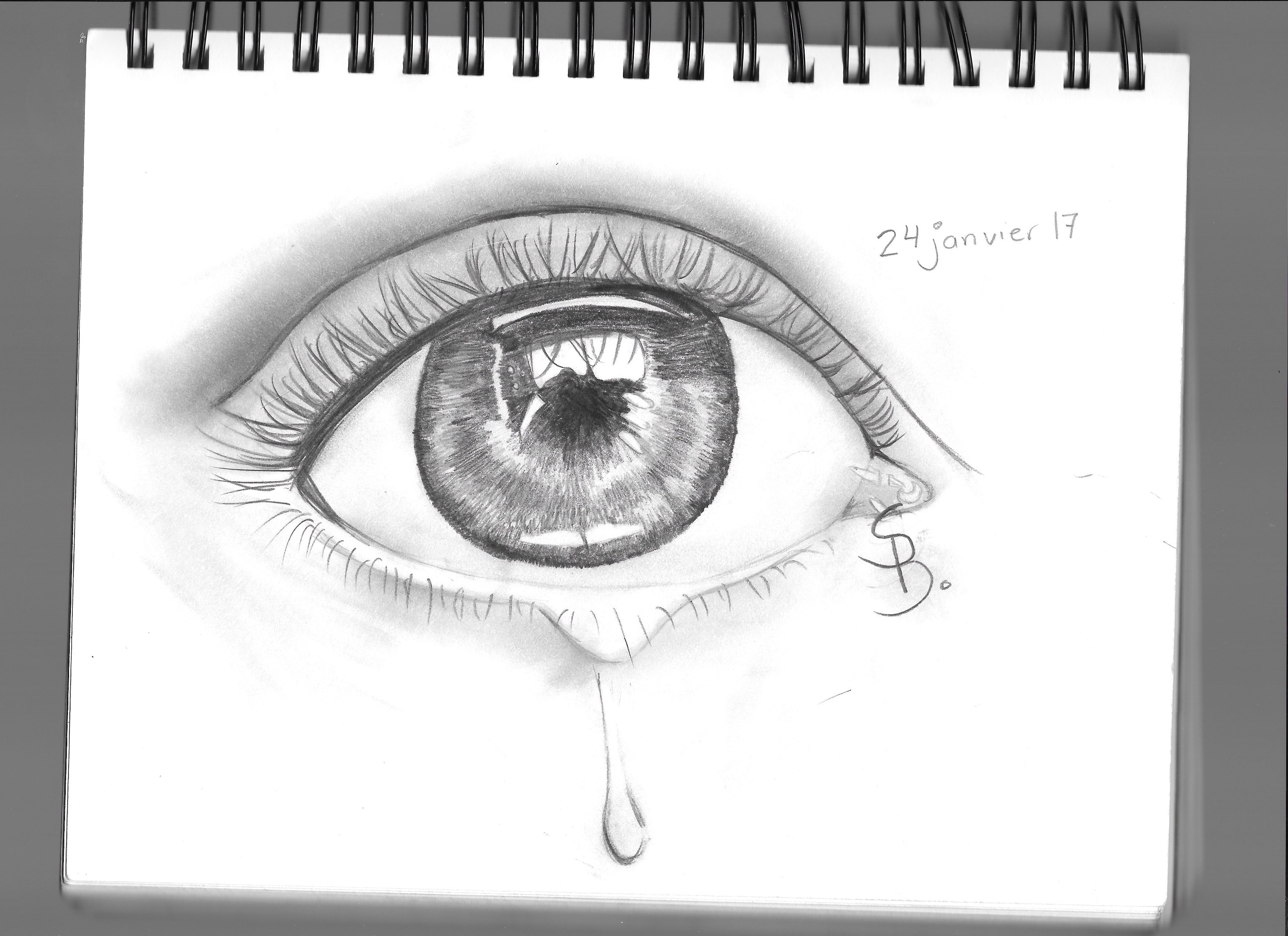 how to draw an eye with pen