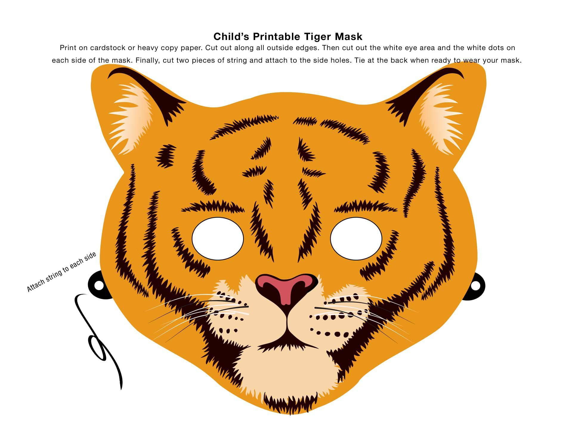 Make An Animal Mask Using This Clip Art  Paper Face Mask Template