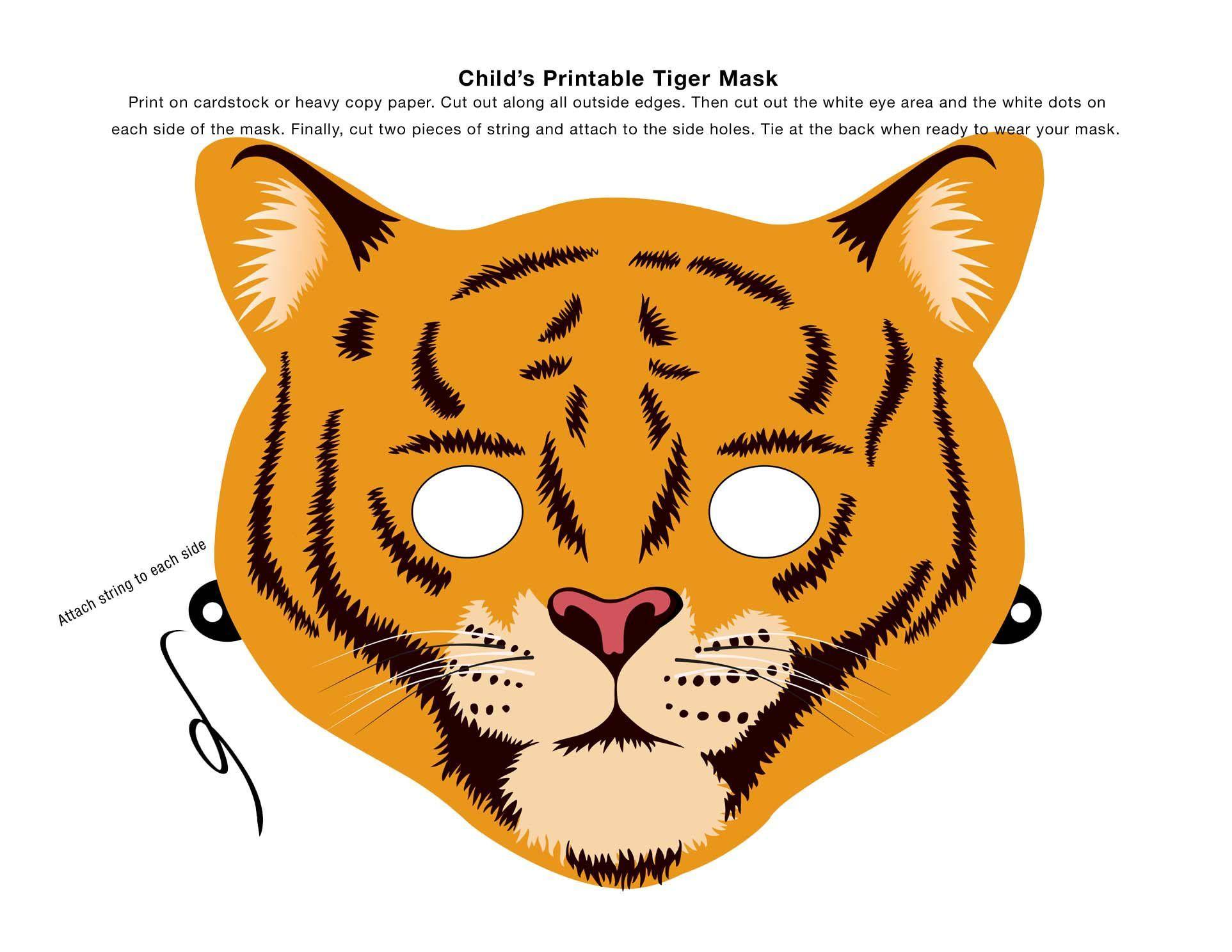 Uncategorized Tiger Mask Template make an animal mask using this clip art tiger masking and free printablesprintable maskstiger