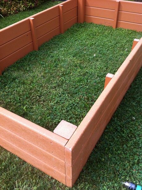 Recycled Plastic Raised Garden Bed 4 X 8 X 11 Raised Garden