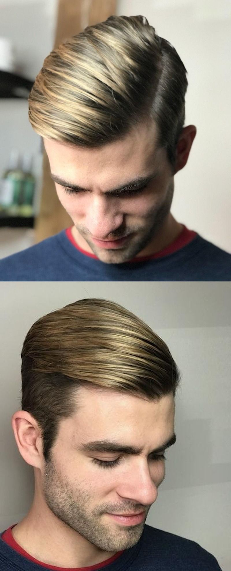 A Fresh Disconnected Combover With Hair Highlights Mens Hair Colour Men Hair Color Hair Styles