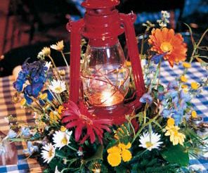 Western Table Centerpieces | western-table-linens