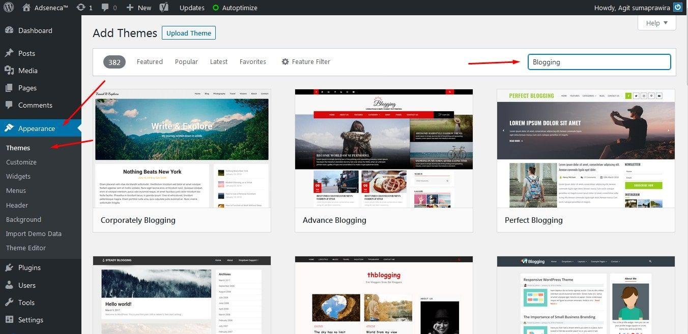 3 Cara Install Theme Wordpress Yang Benar Di 2020 Tema Wordpress Blogging Wordpress