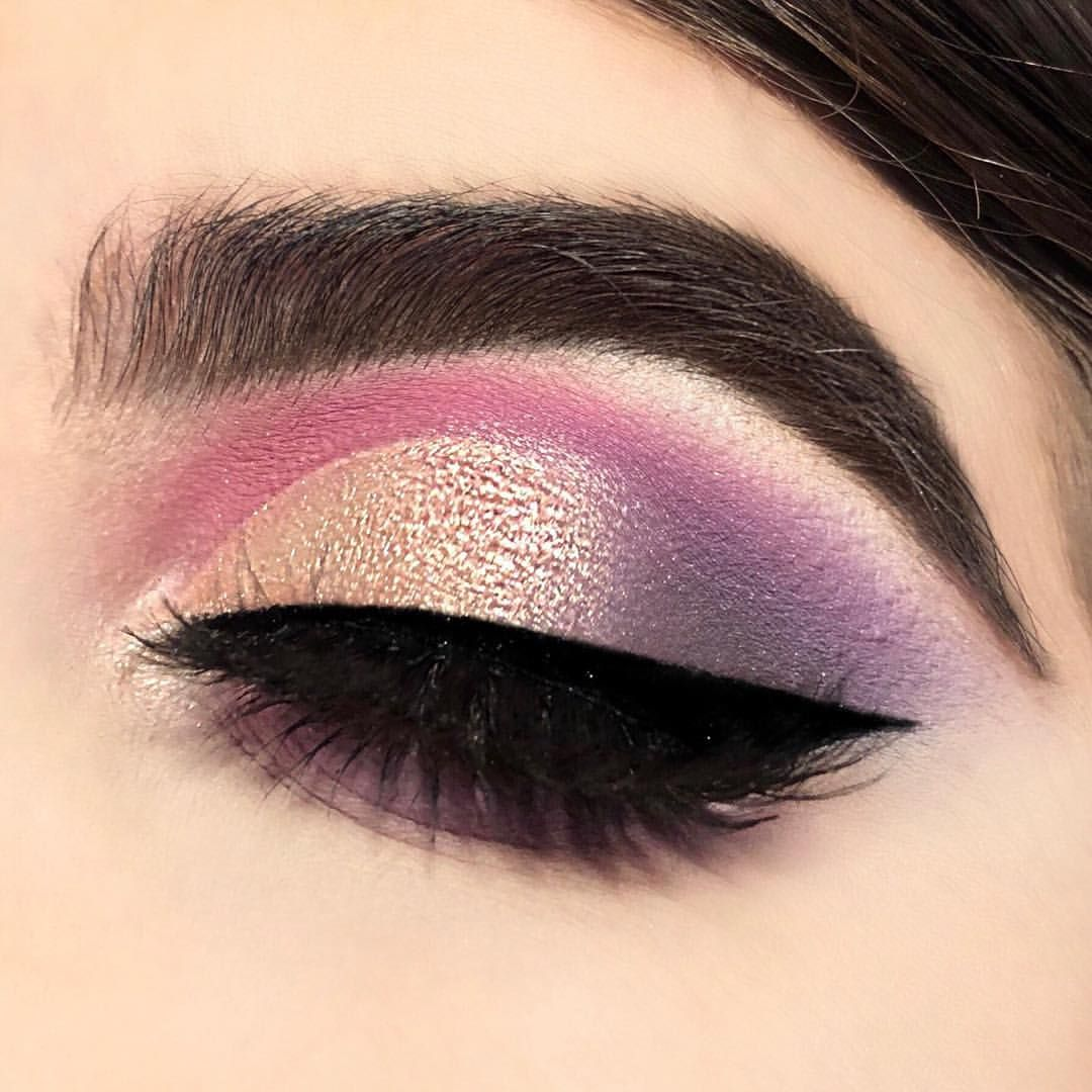 Norvina Palette look Pastel purple and pink eyeshadow. IG