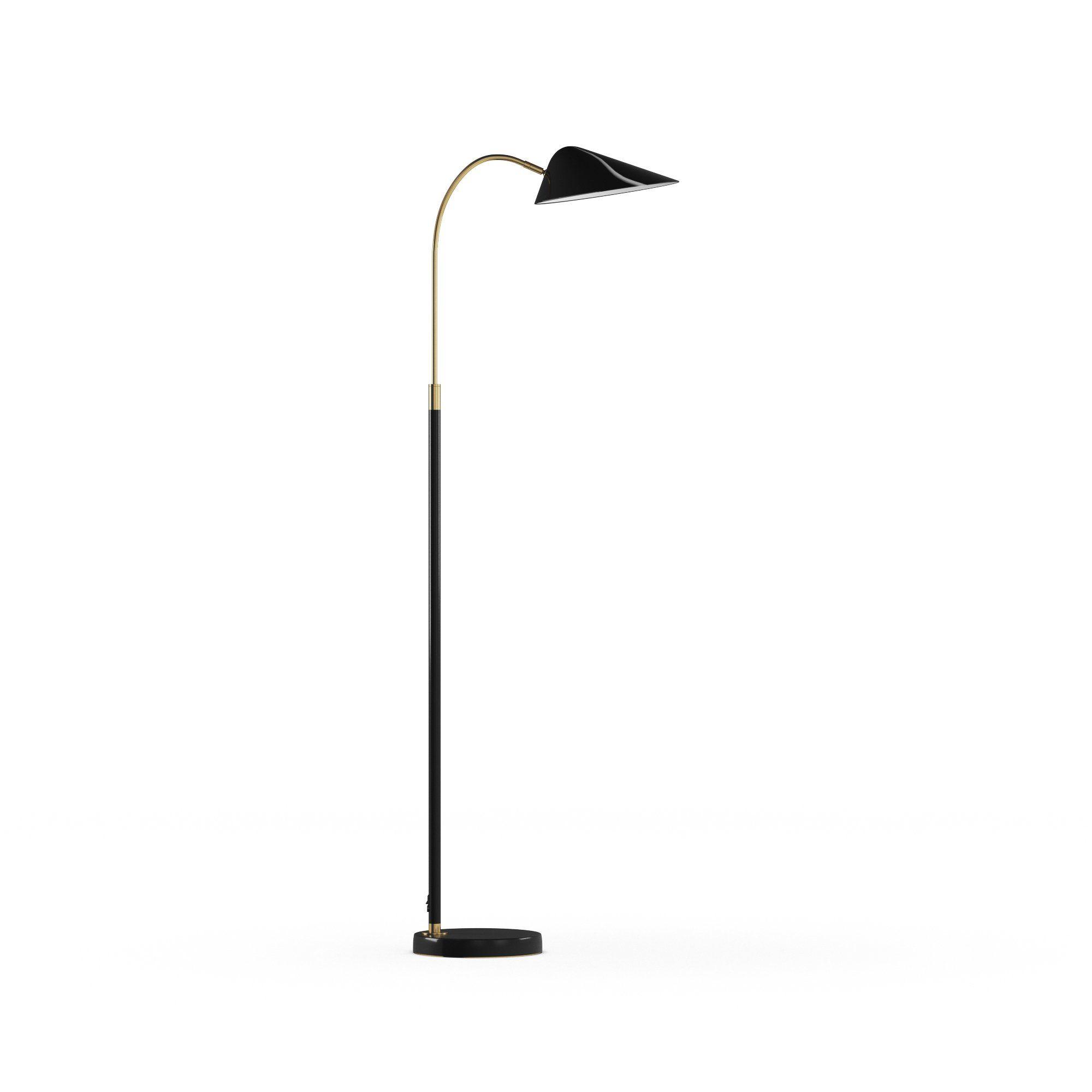 Modrn Scandinavian 60 Adjustable Task Floor Lamp Black Walmart Com In 2021 Task Floor Lamp Adjustable Floor Lamp Floor Lamp