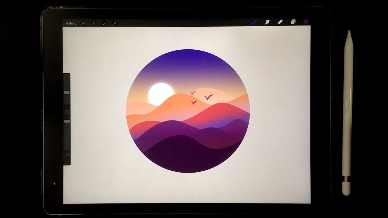 How To Draw Landscape With Procreate Ipad Pro Art Procreate Ipad Procreate Ipad Art Ipad Drawings
