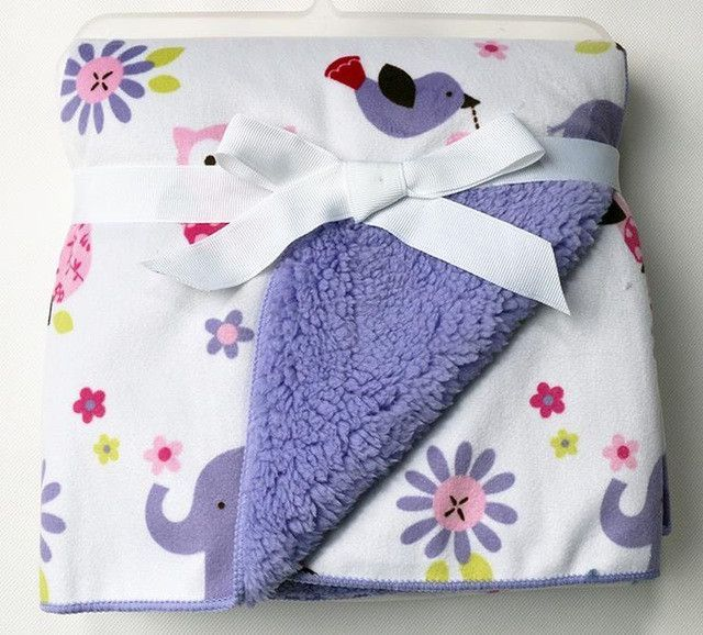 Cute /& Snuggly Pink Baby Blanket With Butterfly Design 75cm x 100cm