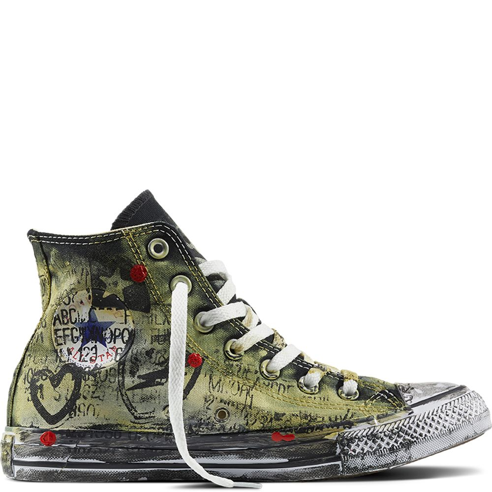 423f412d8945 Chuck Taylor All Star Graffiti White Green Multi
