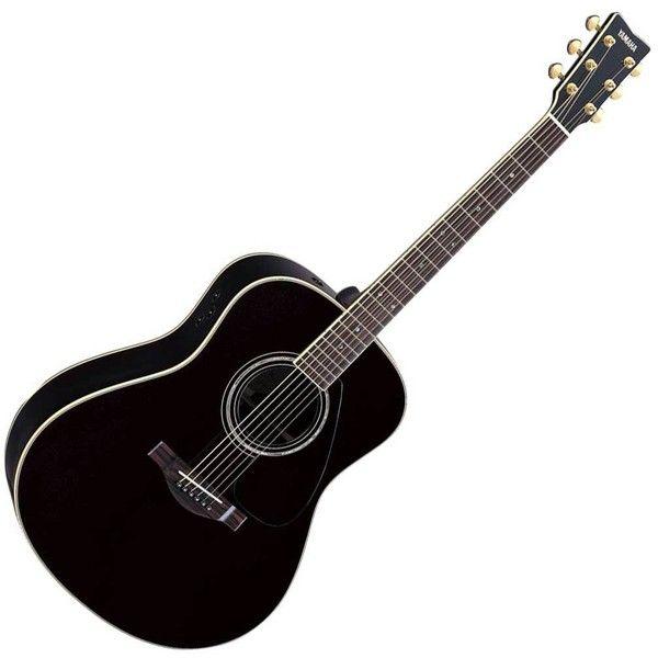 Yamaha Llx16 Acoustic Guitar Black Found On Polyvore Black Acoustic Guitar Yamaha Guitar Acoustic Electric