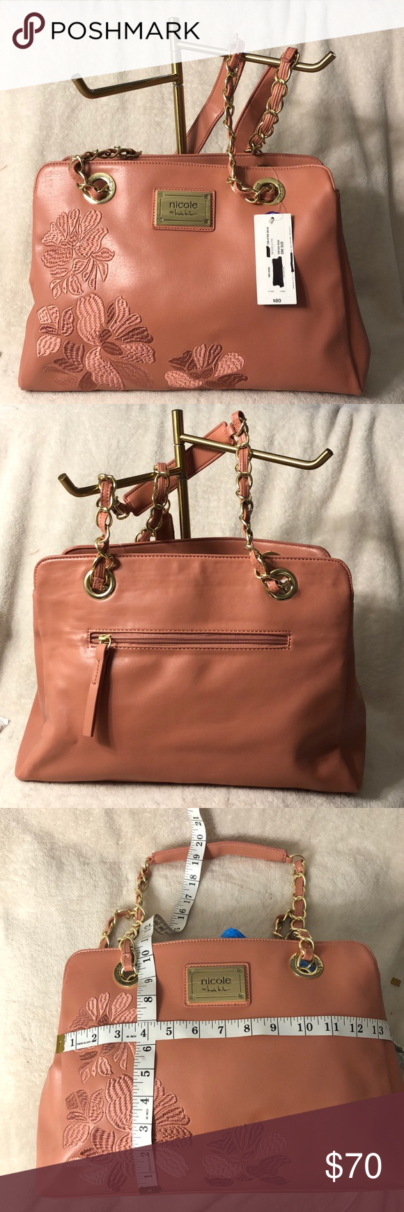 NICOLE MILLER Beautiful Light Pink Purse.. Perfect for