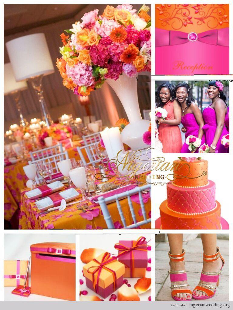 Pin By Sonya Morton On Wedding Stuff Orange And Pink Wedding Pink Wedding Colors Pink Wedding Theme