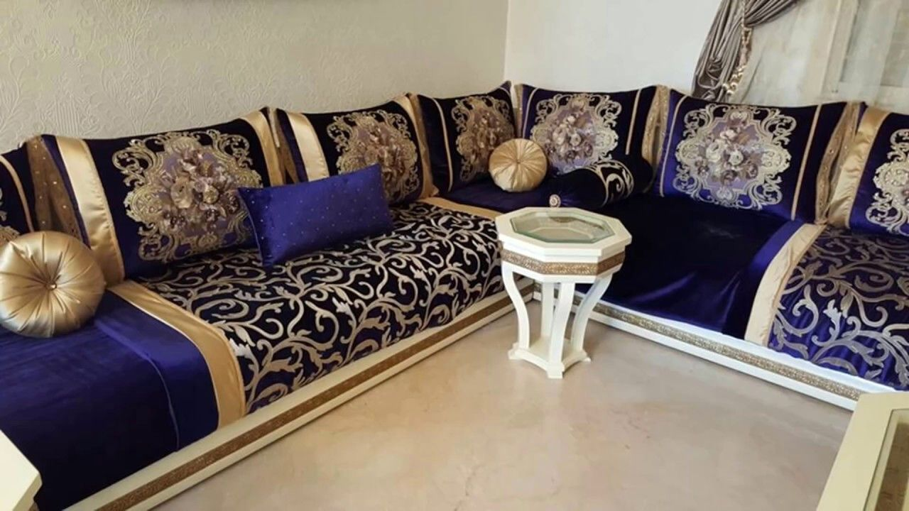 Salon Marocain Bleu Roi Gamboahinestrosa
