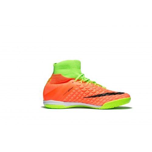 online store 145d4 099cc Nike Hypervenom - Chuteira 2017 Nike HypervenomX Proximo II DF IC Laranja  Verde Preto Promoção