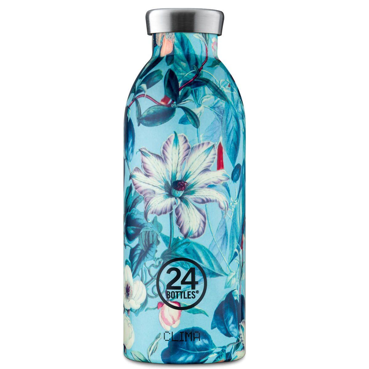 24bottles Thermosflasche 0 5l Clima Aus Edelstahl Flower Eden