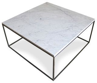 Marble Top With Metal Frame Base