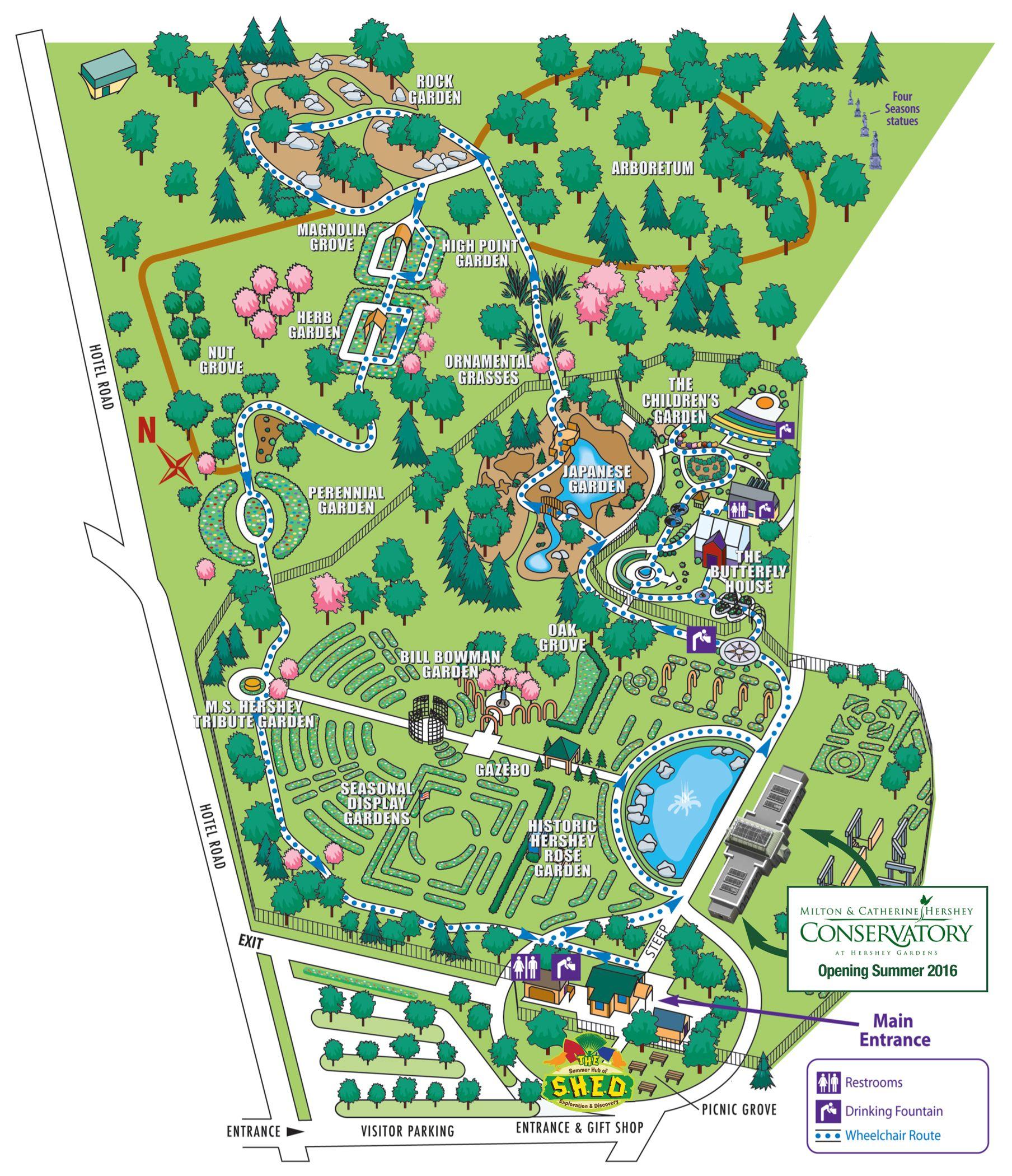 Garden map hershey gardens childrens garden map garden