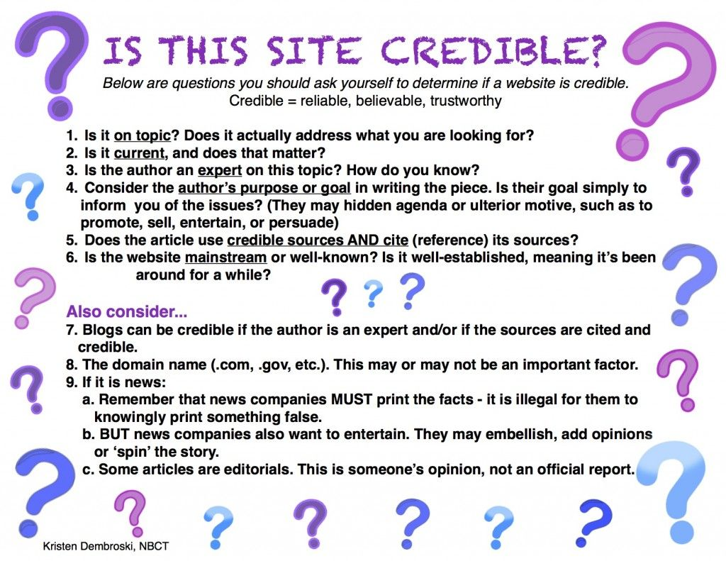 Determining The Credibility Of Internet Websites Free Poster Teaching Writing Research Skills Information Literacy