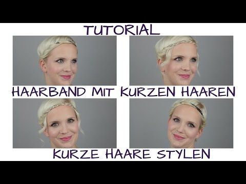 Kurze Haare Stylen Zwei Haarband Frisuren Youtube Pixie