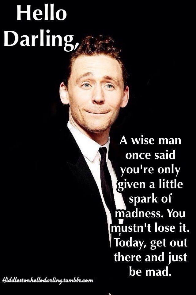 R I P Robin Williams Hello Darling Tom Hiddleston Romantic Humor