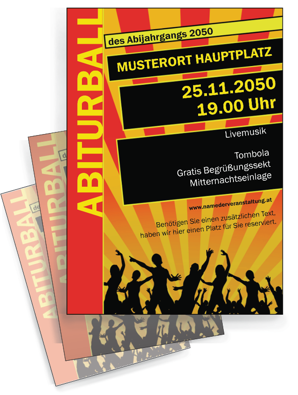 Abiturball Flyer Jetzt Online Kostenlos Personalisieren Und Günstig
