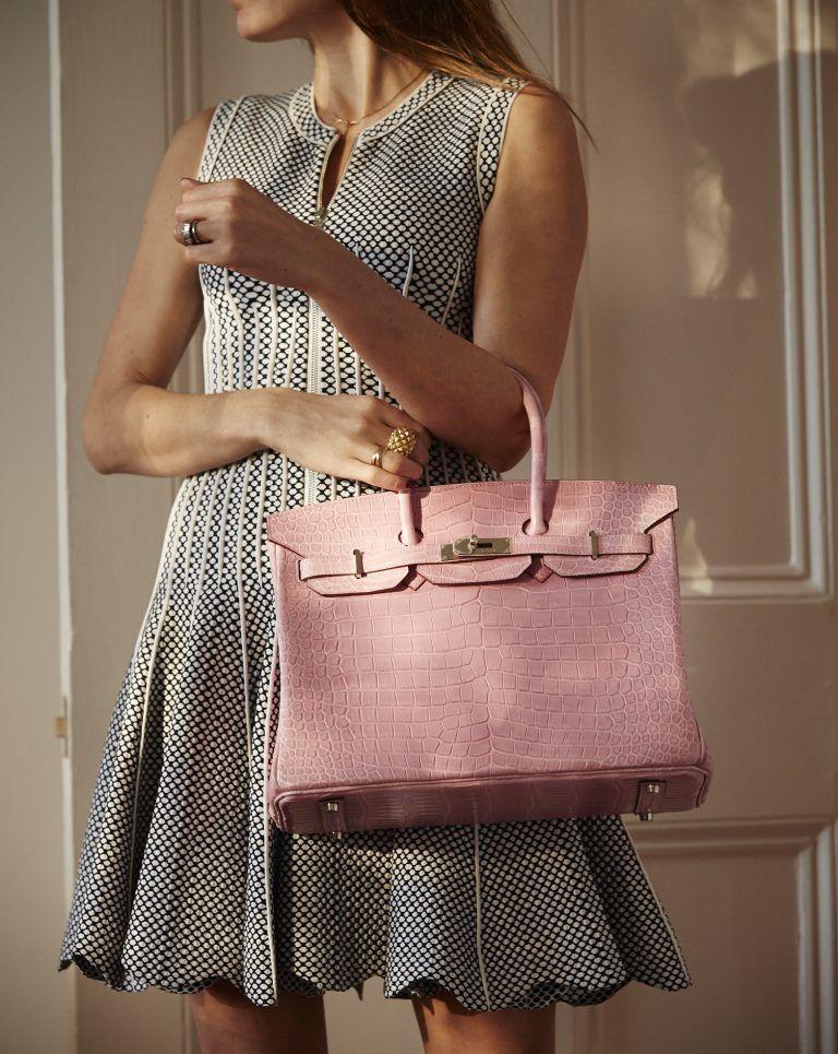 Lady Holding Pink Hermes Birkin Bag Hermes Bag Birkin Hermes Birkin Hermes Bag