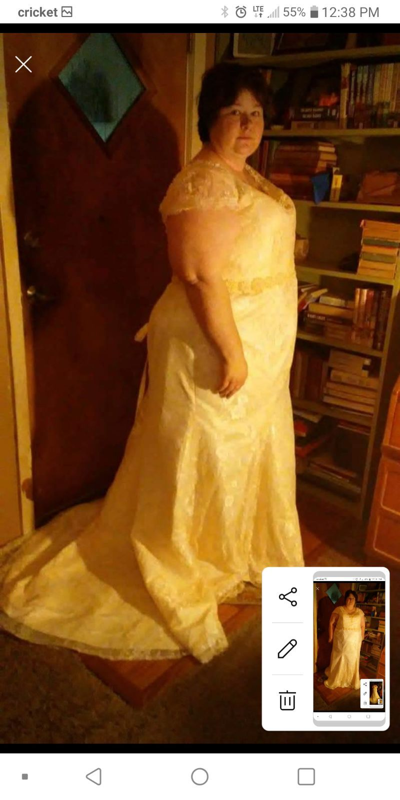 Size 26 Wedding Dress Champagne In Color Comes With Strapless Bra Dresses Wedding Dresses Wedding,Empire Waist Plus Size Wedding Dresses With Sleeves