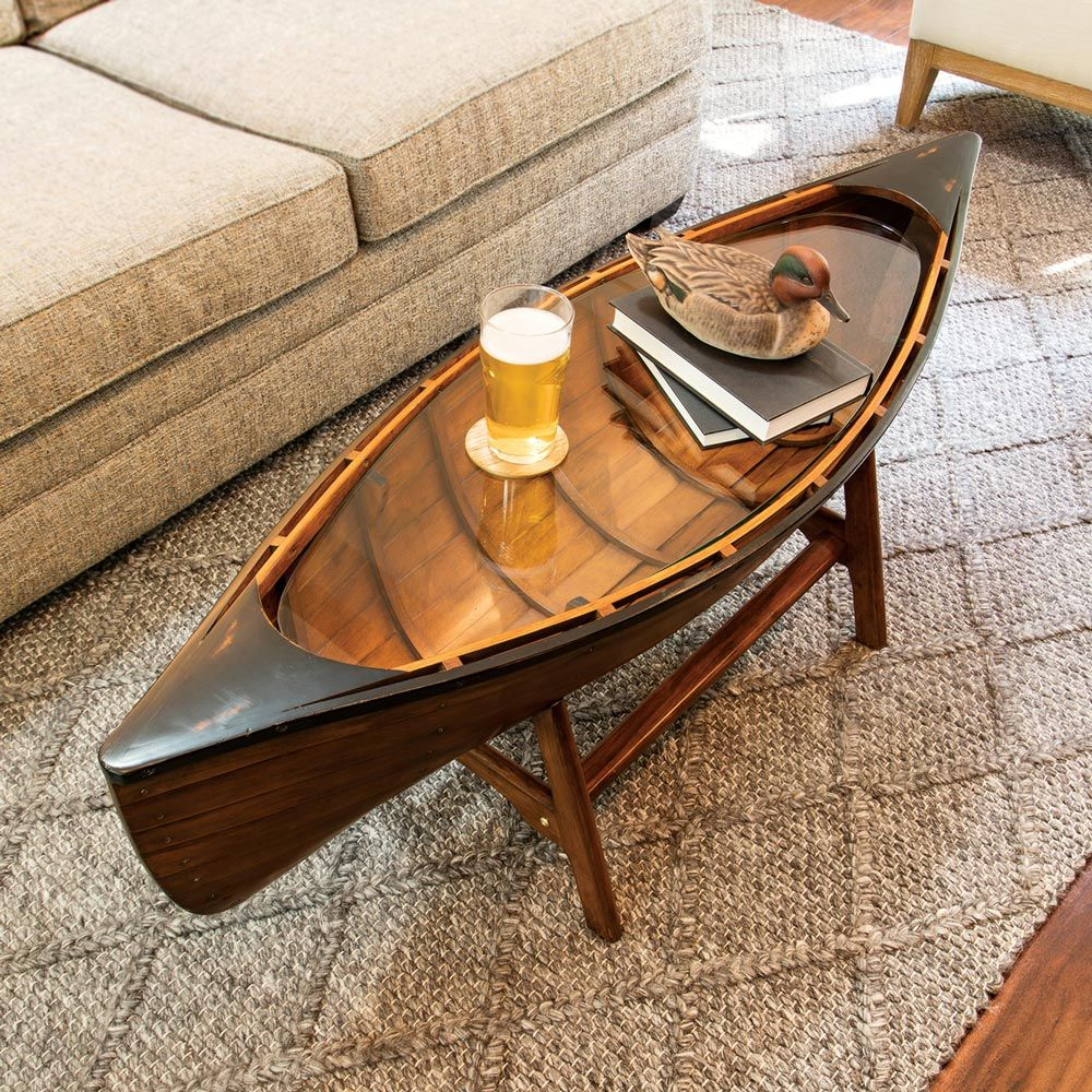 Canoe Coffee Table Unique Coffee Table Boat Furniture Coffee Table [ 1000 x 1000 Pixel ]