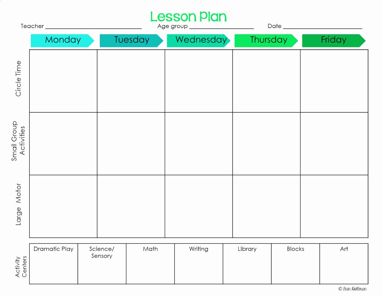 Awesome Emergent Curriculum Preschool Lesson Plan Template
