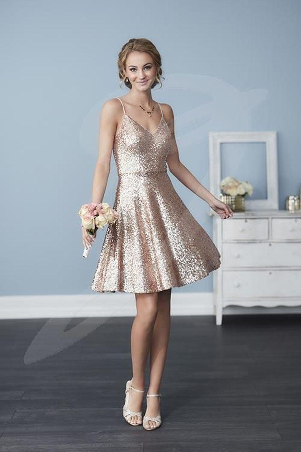 9f31fed9 Rose Gold Sequin Bridesmaid Dresses Canada