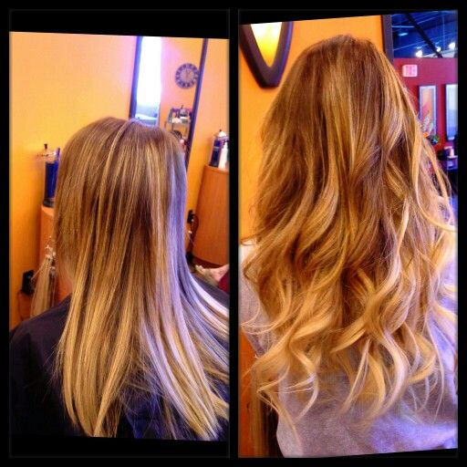 "#Ombre #haircolor done, then added 18-20"" #Hotheads #extensions that I #colored for ombre effect..."