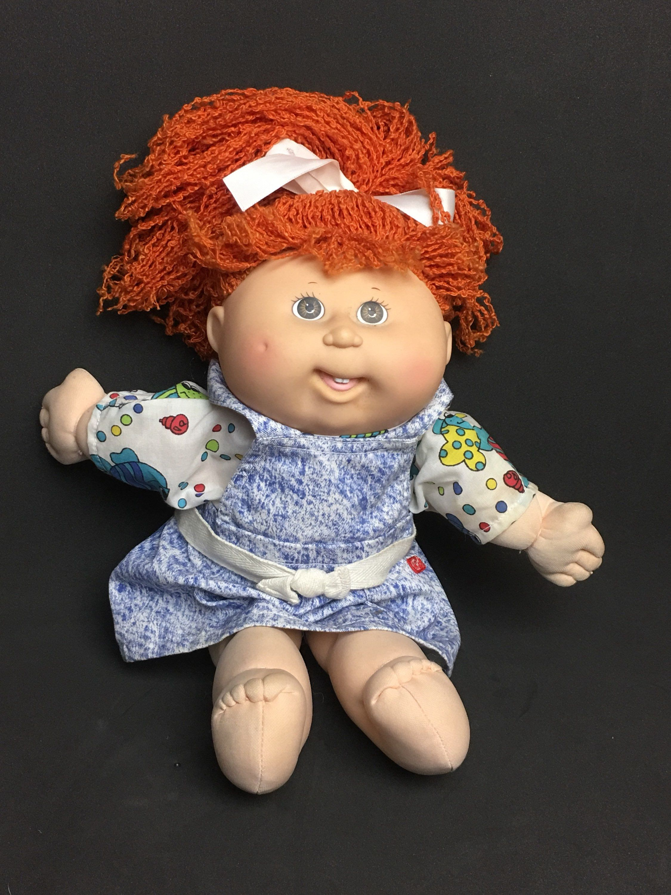 1992 Hasbro Cabbage Patch 13 Kid Girl Doll First Edition Red Hair Open Mouth With Teeth Cpk Dress 31910 31911 By Ana Kids Girls Girl Dolls Cabbage Patch Kids