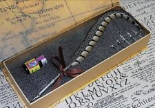 Vintage PHEASANT Feather Quill Metal Nib Dip Pen Writing Ink calligrap 40cm S