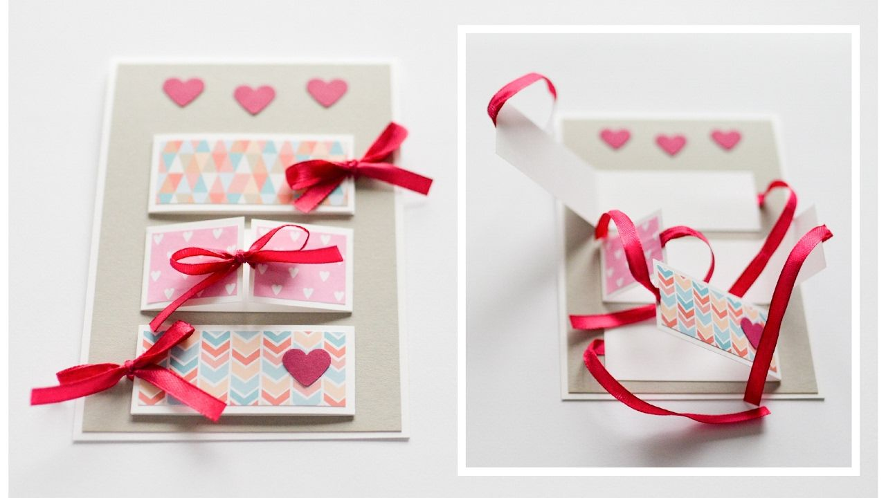 How To Make Greeting Card Valentines Day Step By Step Diy