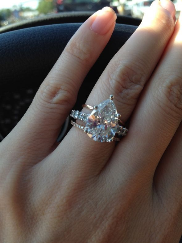 pear shaped diamond wedding ring - Wedding Rings Pinterest