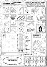 English worksheet summer holiday fun summer to do list english worksheet summer holiday fun ibookread Read Online