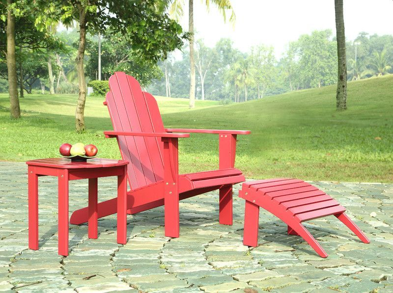 Sedie Adirondack ~ Buy linon red adirondack chair at harvey haley for only