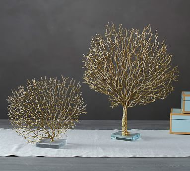 Coral Gold Fan Home Accessories Decorative Objects Decor