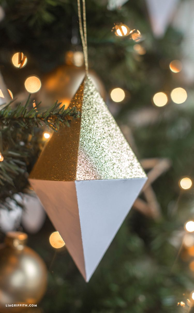 Paper Geode Christmas Ornaments Lia Griffith Diy Christmas Paper Paper Christmas Ornaments Christmas Ornaments