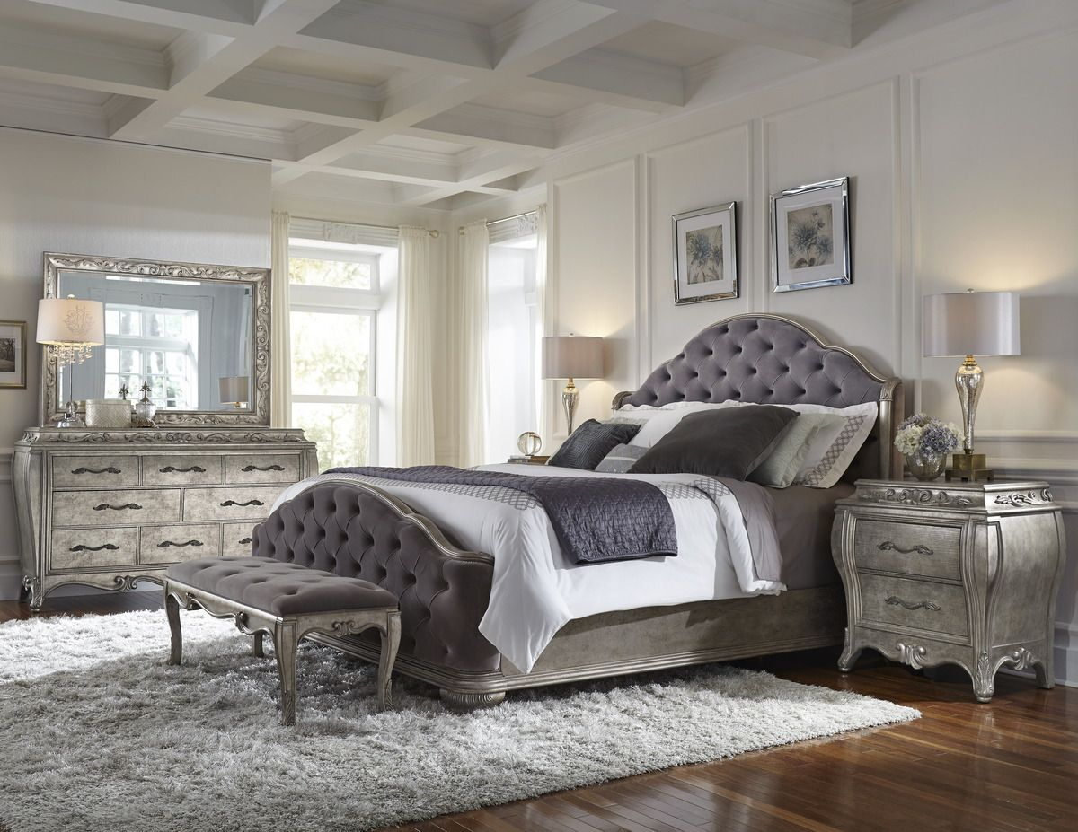 Perfect Upholstered Bedroom Set Decoration Ideas