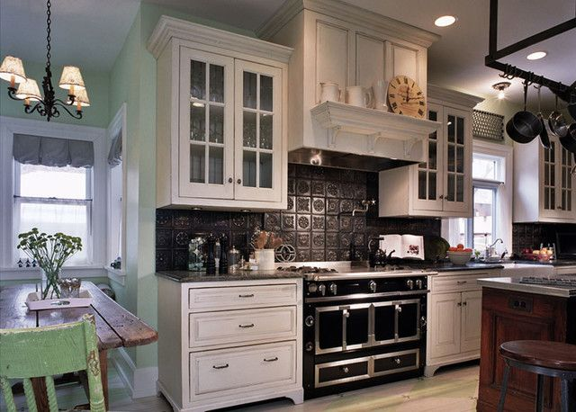 The Black Tin Backsplash Is A Nice Contrast To The Beautiful Classy Tin Backsplash For Kitchen Design Decoration