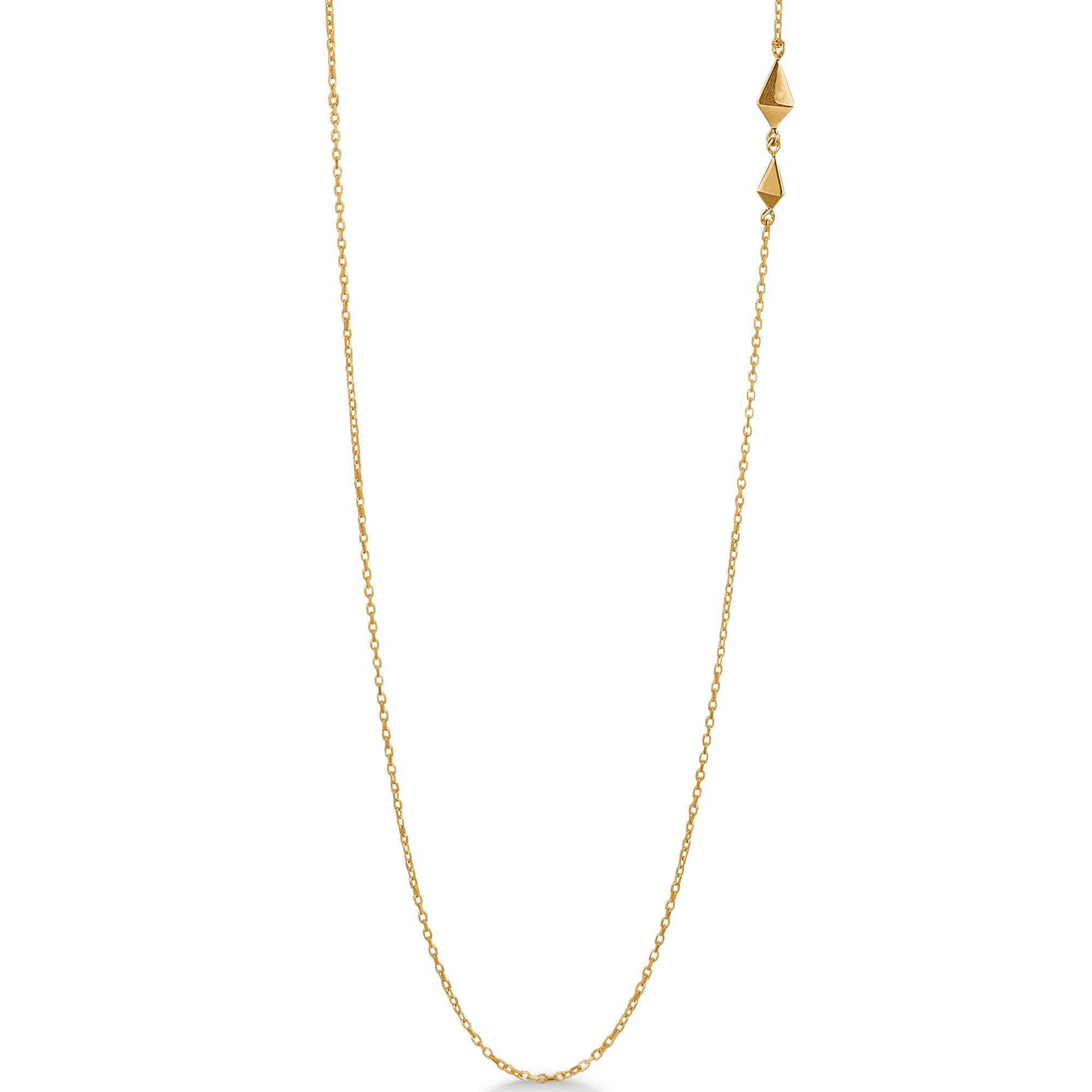 cb969ae3150 PRISM halskæde i 14 karat guld. Enkel, lang halskæde med fin detalje i det