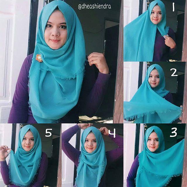 Tutorial Hijab Segi Empat Simple Masa Kini Hijab Tutorial Hijab Tutorial