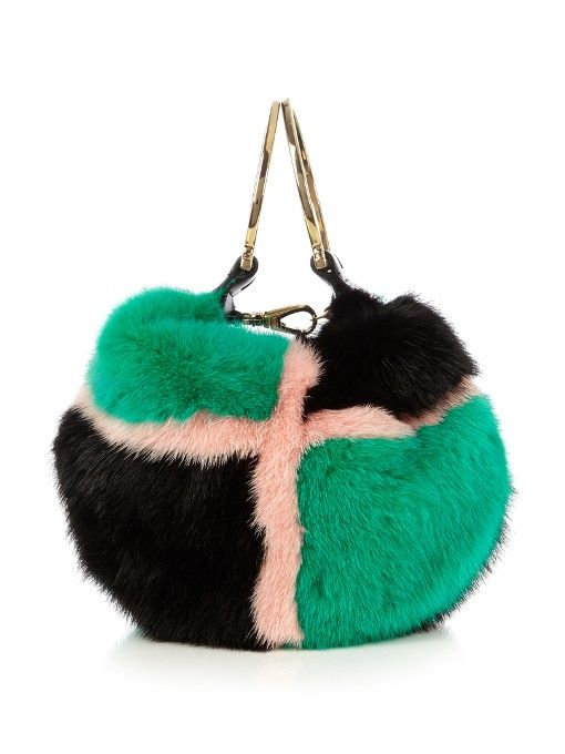 6650b29274f1 SALVATORE FERRAGAMO Badia Tri-Colour Fur Clutch.  salvatoreferragamo  bags  shoulder  bags  clutch  lining  fur  hand bags