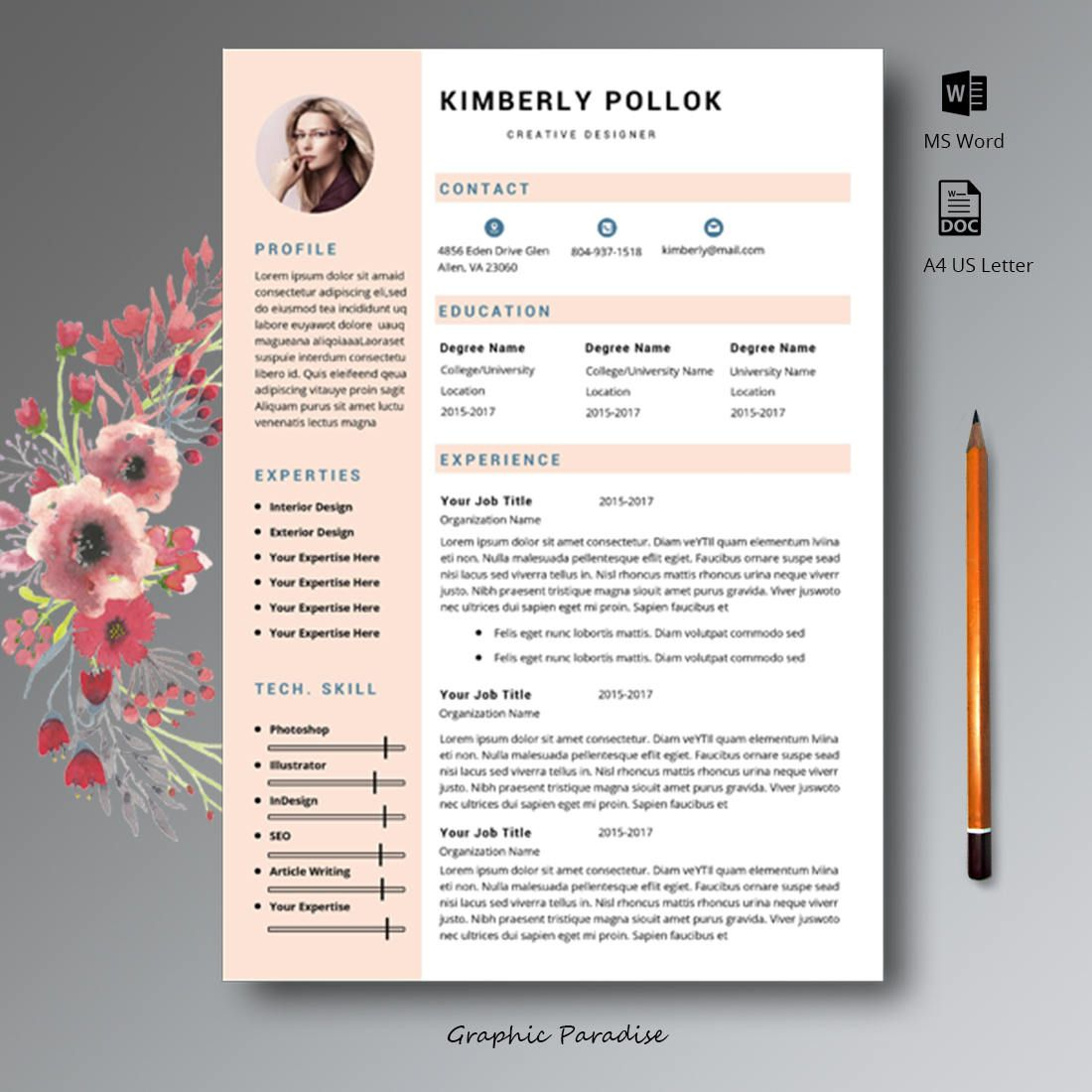 resume templates  professional resume template  resume